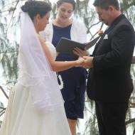 Beach Wedding, June 2013, Cairns Civil Marriage Celebrant, Melanie Serafin