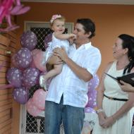 Sofie and Tim's Baby Naming, December 2012,  Cairns Civil Celebrant Melanie Serafin