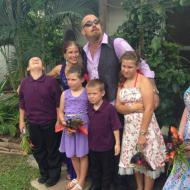 Fabulous family photo is a favourite for Charles and Sandra, Cairns, January 2014, Cairns Civil Marriage Celebrant, Melanie Serafin