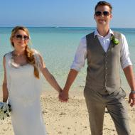 Tina and Mike, Sandy Cay, September 2013, Cairns Civil Marriage Celebrant, Melanie Serafin