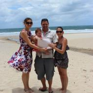 Simon and Sarah's Baby Naming, December 2011, Cairns Civil Celebrant Melanie Serafin