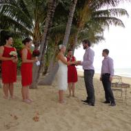 Jacinta and Liam's Ellis Beach Wedding, October 2013, Cairns Civil Marriage Celebrant, Melanie Serafin