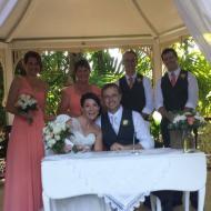 Jo and Brett, April 2014, Colonial Club, Cairns Civil Marriage Celebrant, Melanie Serafin