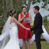 Mel and Phil, April 2014, Lake Tinaroo, Cairns Civil Marriage Celebrant, Melanie Serafin