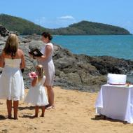 Beach Wedding Arrangement, Palm Cove, Cairns Civil Marriage Celebrant, Melanie Serafin