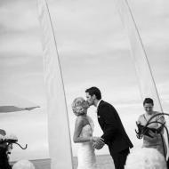 Palm Cove Wedding Kiss! August 2013, Cairns Civil Marriage Celebrant, Melanie Serafin