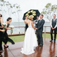 Peta and Steve Laughing Shot!, Lake Tinaroo, Cairns Civil Marriage Celebrant, Melanie Serafin